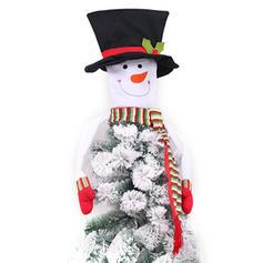 Merry Christmas Snowman Non-Woven Fabric Christmas Tree Topper