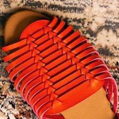 Femmes PVC Talon plat Sandales Chaussures plates À bout ouvert avec Autres chaussures
