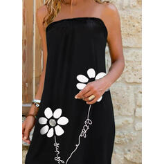 Print/Floral/Letter Sleeveless Shift Above Knee Casual/Vacation Dresses