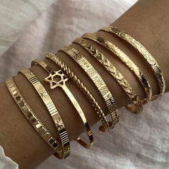 Exotic Alloy Bracelets (Set of 8)