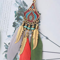 Ainutlaatuinen Metalliseos Feather Naisten Korvakoruja