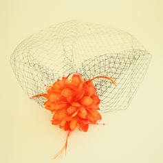 Ladies ' Smukke Netto garn/Silke Blomst Fascinators