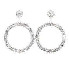 Shining Beautiful Alloy Rhinestones Women's Earrings