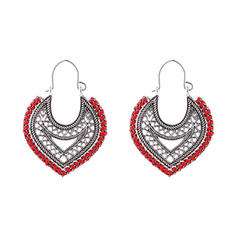 Jahrgang Legierung Frauen Art-Ohrringe (Set von 2)