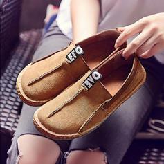 Dla kobiet Zamsz Płaski Obcas Plaskie Zakryte Palce Z Łączona obuwie
