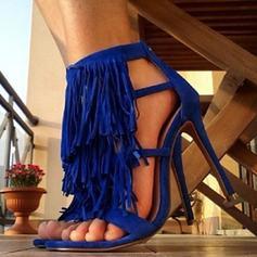 Donna PU Tacco a spillo Sandalo Stiletto con Nappa scarpe
