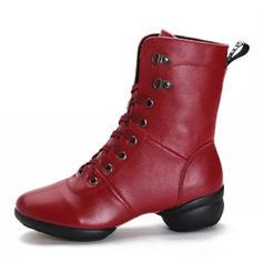 Women's Modern Sneakers Ballroom Sneakers Real Leather Modern