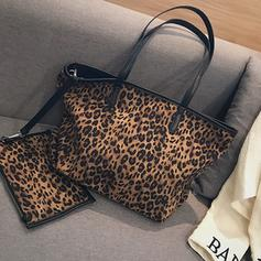 Leopard Canvas Tote Bags/Bag Sets/Wallets & Wristlets