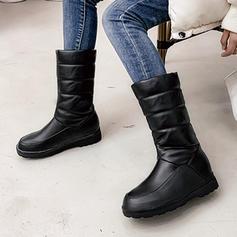 Frauen PU Niederiger Absatz Stiefel mit Andere Schuhe
