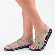 Dámské Látka Placatý podpatek Sandály obuv