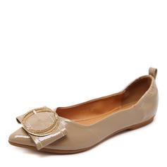 Donna Similpelle Senza tacco Ballerine Punta chiusa con Bottone scarpe
