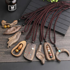 Unique Beautiful Fashionable Wood With Resin Necklaces