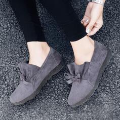 Women's PU Flat Heel Flats Closed Toe With Bowknot shoes