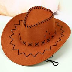 Mænd Classic Fløjl Cowboy Hat