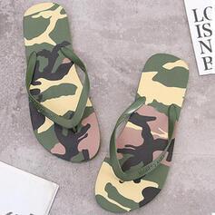 婦人向け PVC フラットヒール サンダル フリップフロップ スリッパ とともに カラーブロック 靴