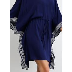 Print/Solid 3/4 Sleeves/Batwing Sleeves Sheath Above Knee Casual Dresses