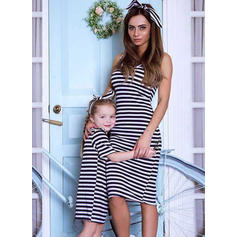 Mommy and Me Striped Matching Dresses