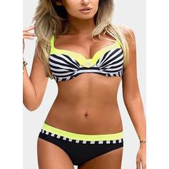 Stripe Underwire Strap Sexy Plus Size Bikinis Swimsuits