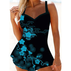 Print Strap Sexy Boho Swimdresses Swimsuits