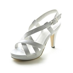 Femmes Similicuir Talon stiletto Sandales Plateforme Escarpins avec Boucle chaussures