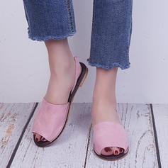 Vrouwen PU Flat Heel Sandalen Flats Peep Toe met Elastiekje schoenen