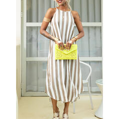 Striped Sleeveless Shift Slip Casual/Vacation Maxi Dresses
