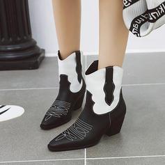 Каблук Чоботи середньої довжини з Тваринний візерунок взуття