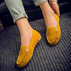 Women's PU Flat Heel Flats Round Toe shoes