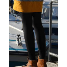 Solid Long Casual Sexy Leggings