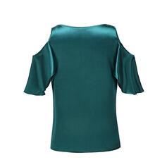 Stampa Floreale Spalle esposte Mezze maniche Casuale Elegante Camicie