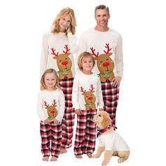 トナカイ チェック マッチングファミリー クリスマスパジャマ