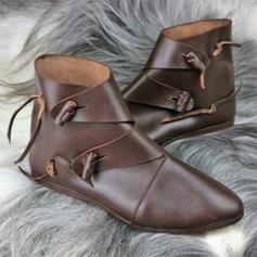 Dámské PU Placatý podpatek Boty Kotníkové Boty S Přezka obuv