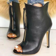 Mulheres Camurça Salto agulha Bombas Peep toe com Laço de fita sapatos
