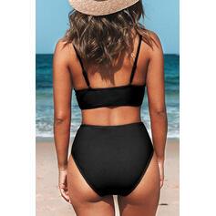 Strap V-Neck Sexy Plus Size Casual Bikinis Swimsuits