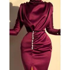 Solid Long Sleeves Sheath Party/Elegant Maxi Dresses