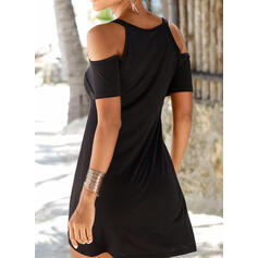 Splice color Strap Round Neck Sexy Boho Cover-ups Swimsuits