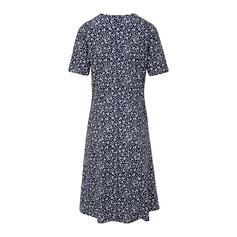 Print Short Sleeves Shift Casual/Elegant Midi Dresses