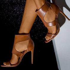 De mujer PU Tacón stilettos Encaje con Cremallera zapatos