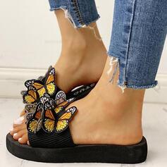 Mulheres Tecido Sem salto Sandálias com Outros sapatos