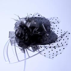 Élégante Tulle Chapeaux de type fascinator
