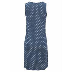 Estampado Sem mangas Shift Comprimento do joelho Casual/Férias Vestidos