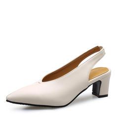 Femmes Similicuir Talon bottier Sandales Escarpins avec Fourrure chaussures