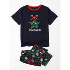северный олень Письмо Распечатать Семейное соответствие Рождественская пижама