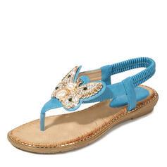 Femmes PU Talon compensé Sandales Tongs Chaussons avec Papillon chaussures