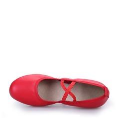 Mulheres sapatos de personagem Tênnis Couro verdadeiro Moderno