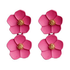 Flower Shaped Simple Alloy Earrings