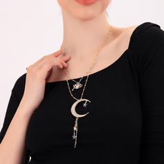 Unique Alloy With Rhinestone Women's Necklaces