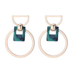 Simple Alloy Acrylic Women's Fashion Earrings