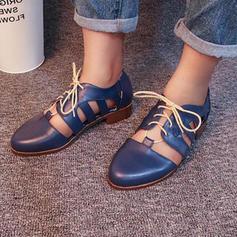 Donna Similpelle Tacco spesso Stiletto Punta chiusa con Cravatta a nastro scarpe