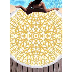Geometrický Potisk Vytahaný/kolo plážová osuška